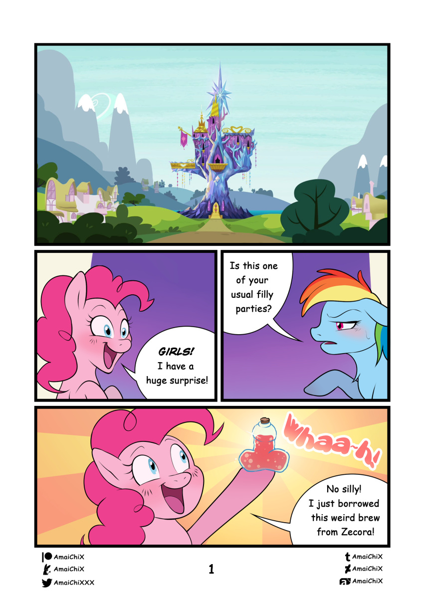love project disaster potion x My little pony apple fritter